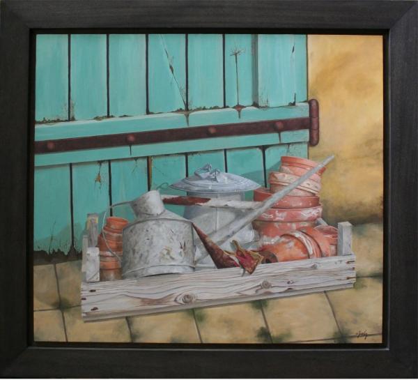 Abreuvoir, arrosoir.. (94x84) 1450€