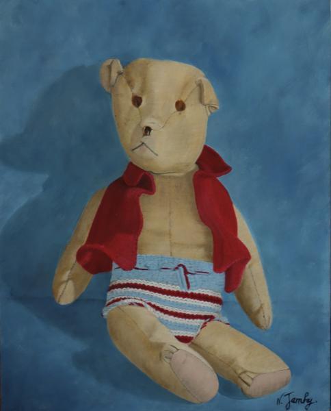 L'ours au gilet bleu (vendu)