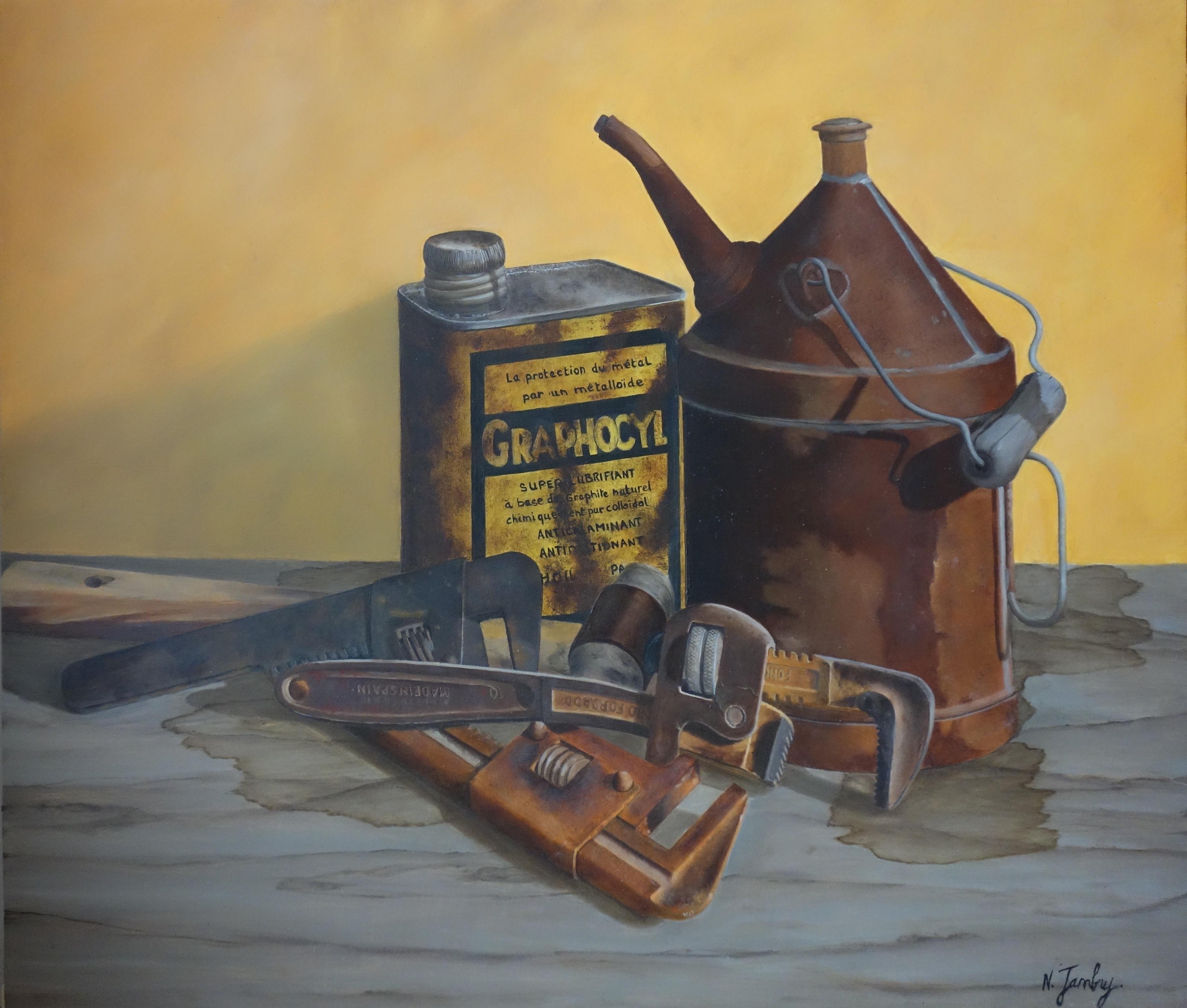 Histoire d'huile (49x42) 620€