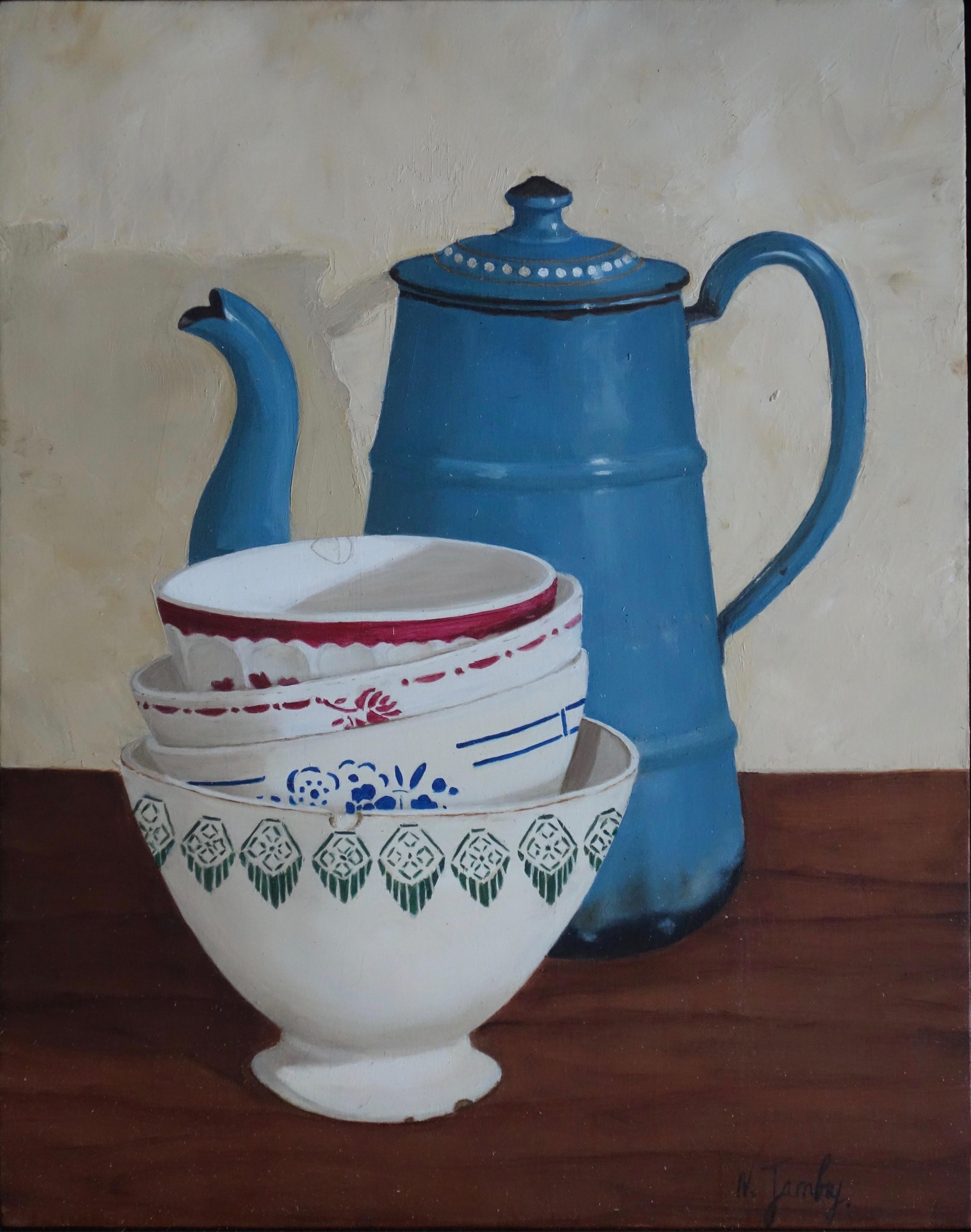 La cafetière bleue 410€